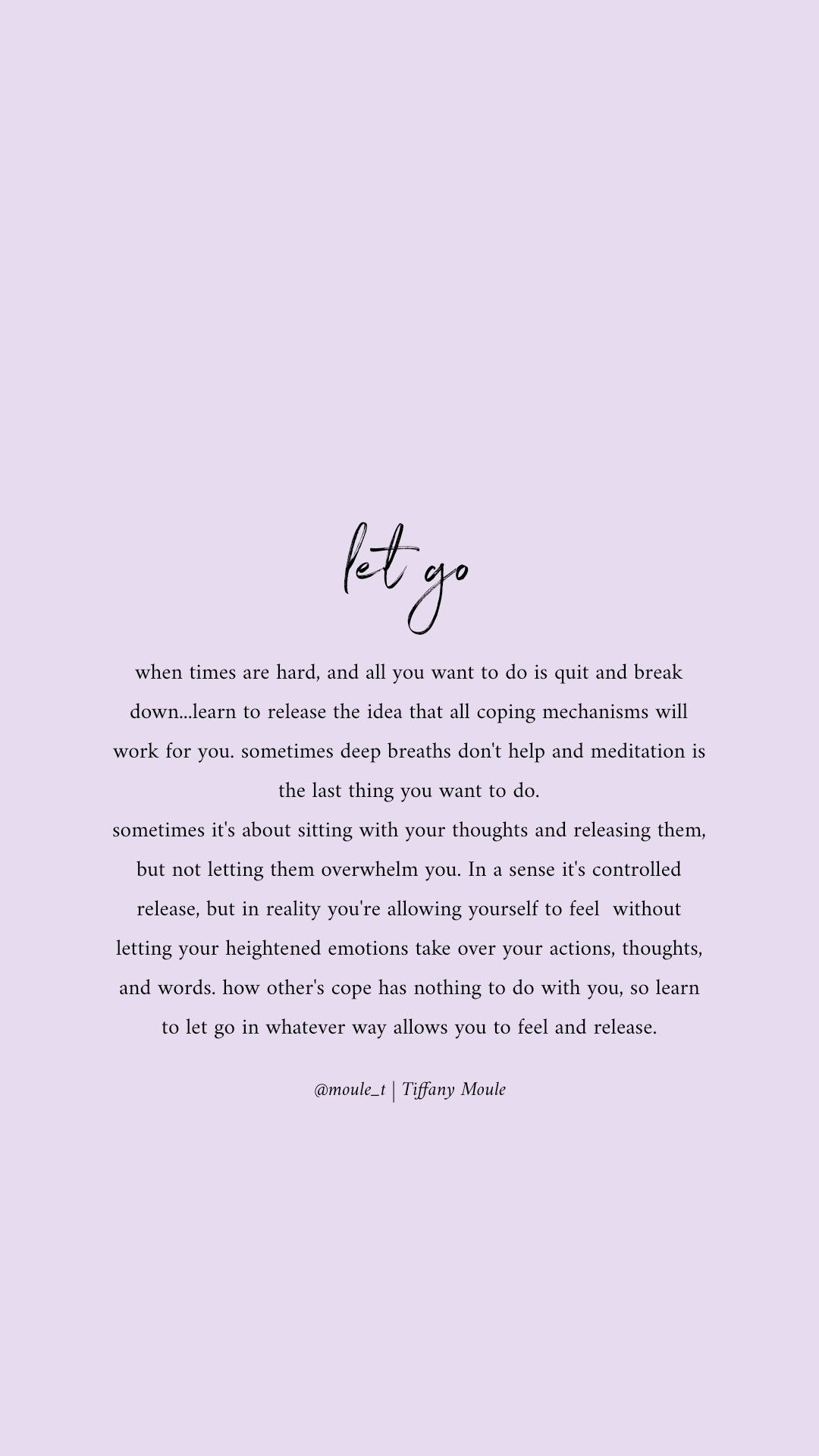 Learn to let go so you can release ♥️ #quote #selflove #copingmechanisms #selfcarequote