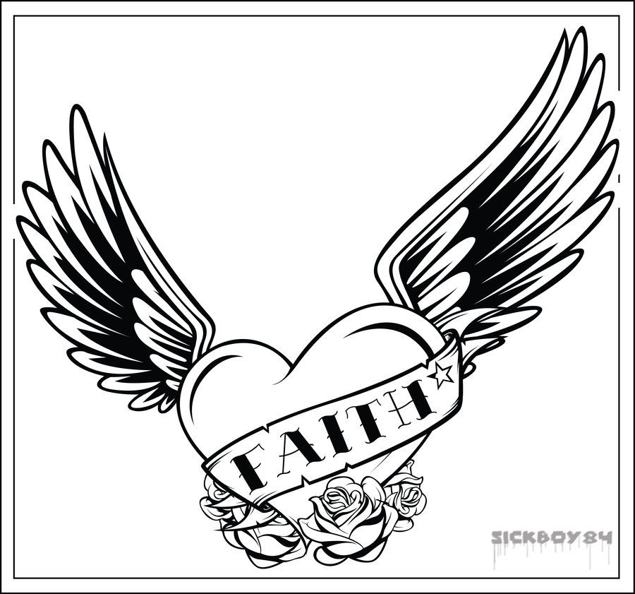 Coloring Pages Of Roses And Hearts - AZ Coloring Pages | Biker Bands ...