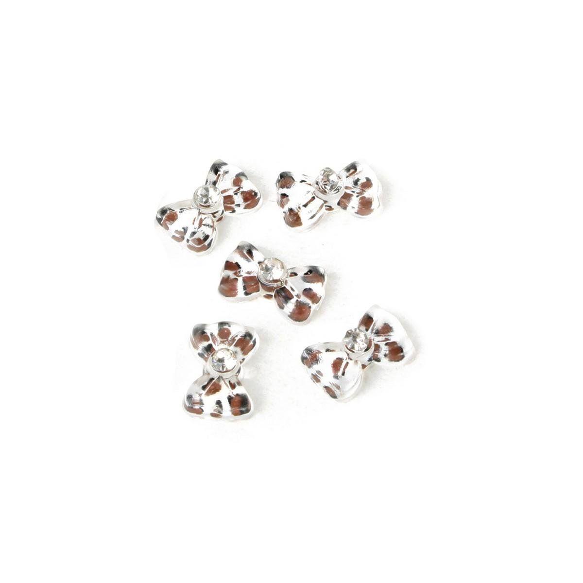 Rain Queen Acrylic Leopard Bows 3d Nail Art Cute Glitters Charms for ...