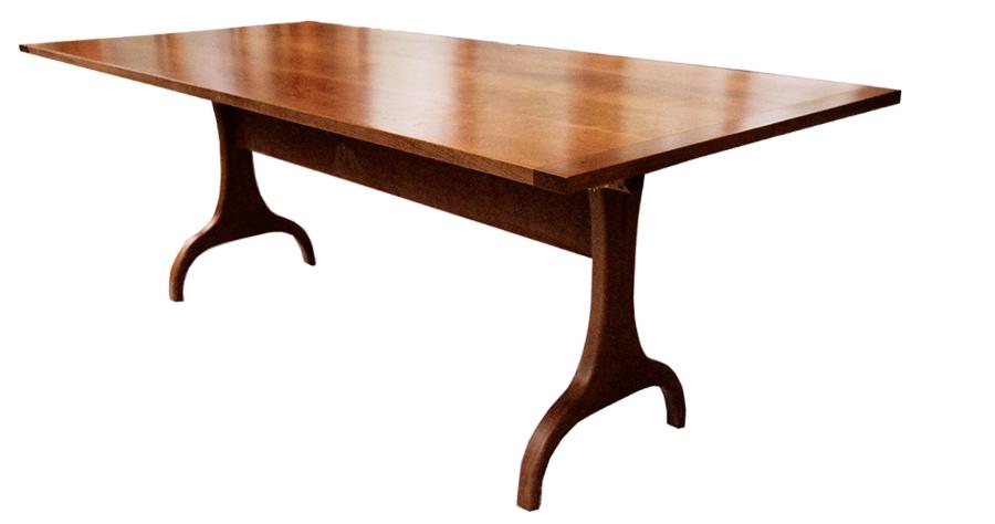 Harvard Trestle Table Shaker Furniture Handmade Mission Style