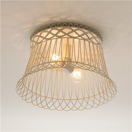 Vintage wire basket as ceiling light surround lighting 4 vintage wire basket as ceiling light surround aloadofball Images