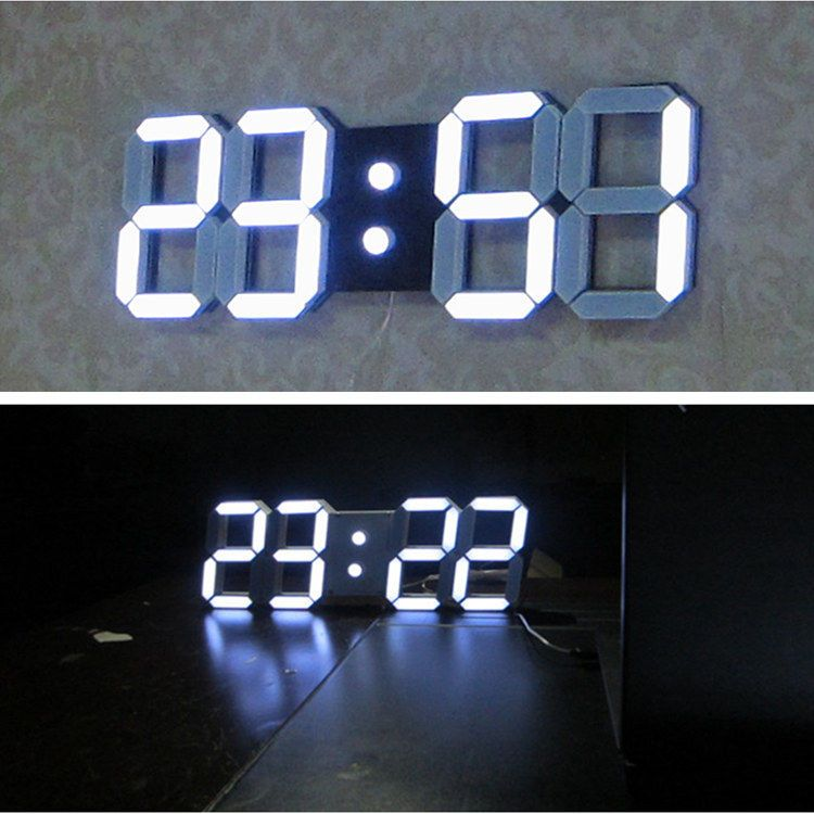 jumbo large modern design digital led wall clock watches 24 or 12