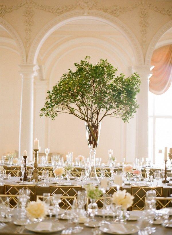 Centros de mesa modernos con árboles muy originales                                                                                                                                                     Más