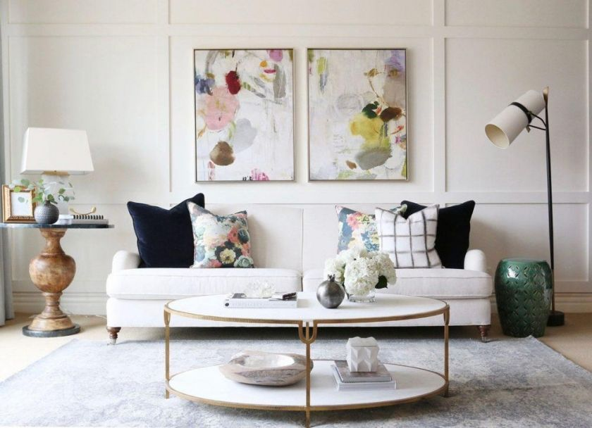 The Trick To Mixing Modern And Traditional Furniture Modern Traditional Living Room Living Room Modern Formal Living Rooms