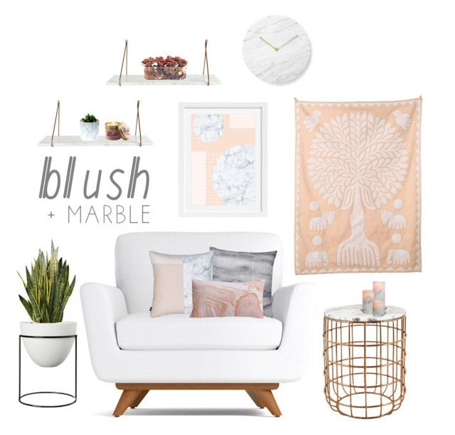 """#blush+marble"" by tothineownselfbtrue ❤ liked on Polyvore featuring interior, interiors, interior design, home, home decor, interior decorating, Bloomingville, Cultural Intrigue, Menu and Lily-Flame"