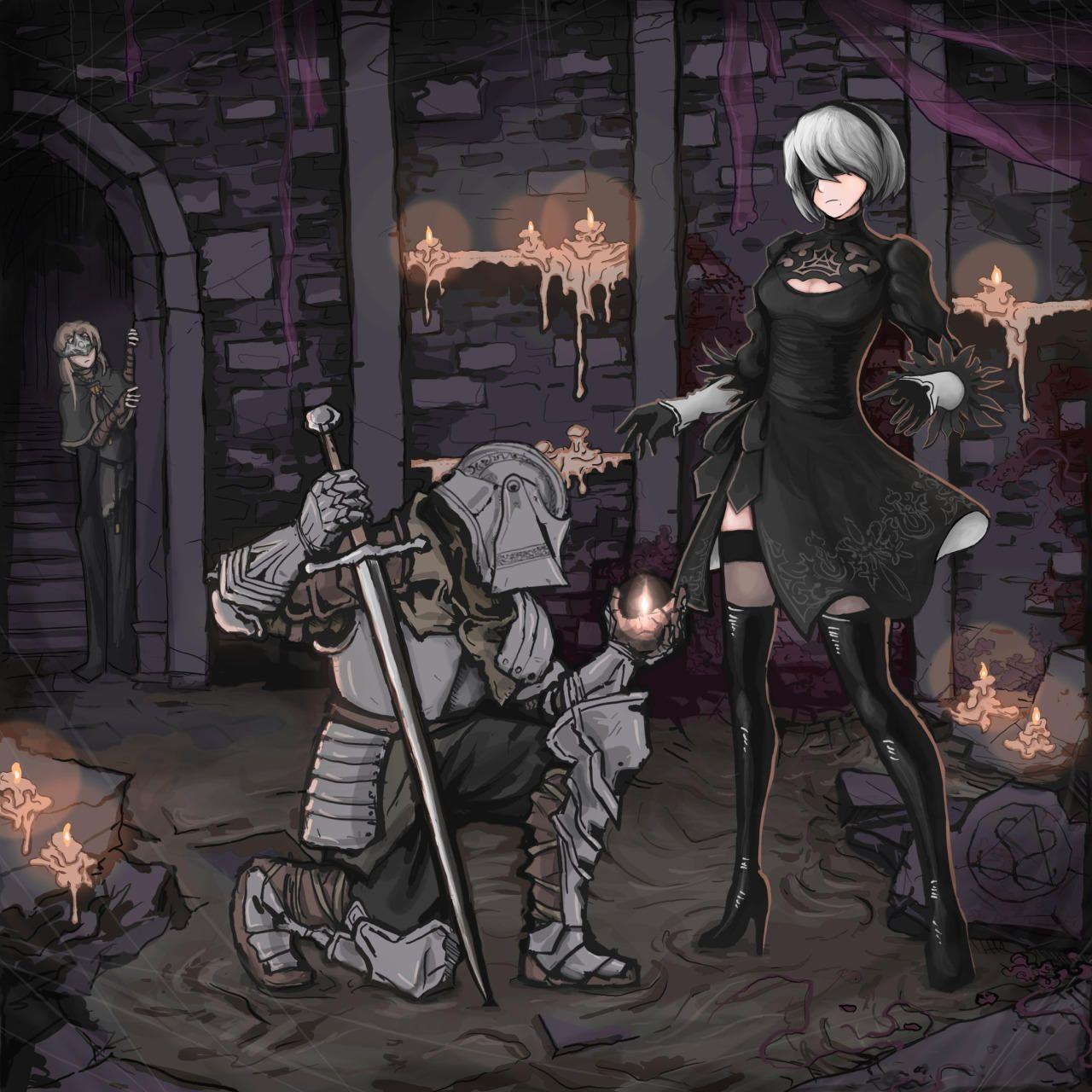 Dark Souls Fire Keeper Anime HD Print Wall Poster Scroll Room Decor