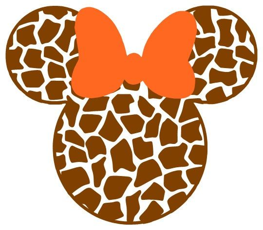 Personalized Giraffe Print Mickey Or Minnie Mouse Diy Iron On Decal 7 00 Via Etsy Disney Scrapbook Mickey And Friends Disney Clipart