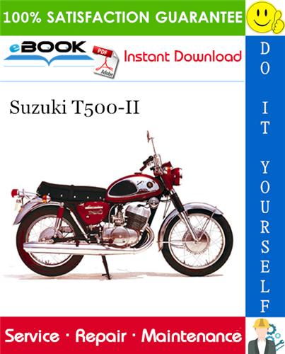 Suzuki T500 Ii Motorcycle Service Repair Manual In 2020 Repair Manuals Suzuki Repair