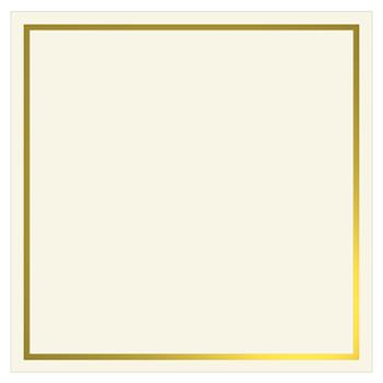 Gold Foil Invitation Flat Card 6 1 4 X 6 1 4 Ecru Cardstock 80lb Gold Foil Invitation Foil Invitations Gold Foil
