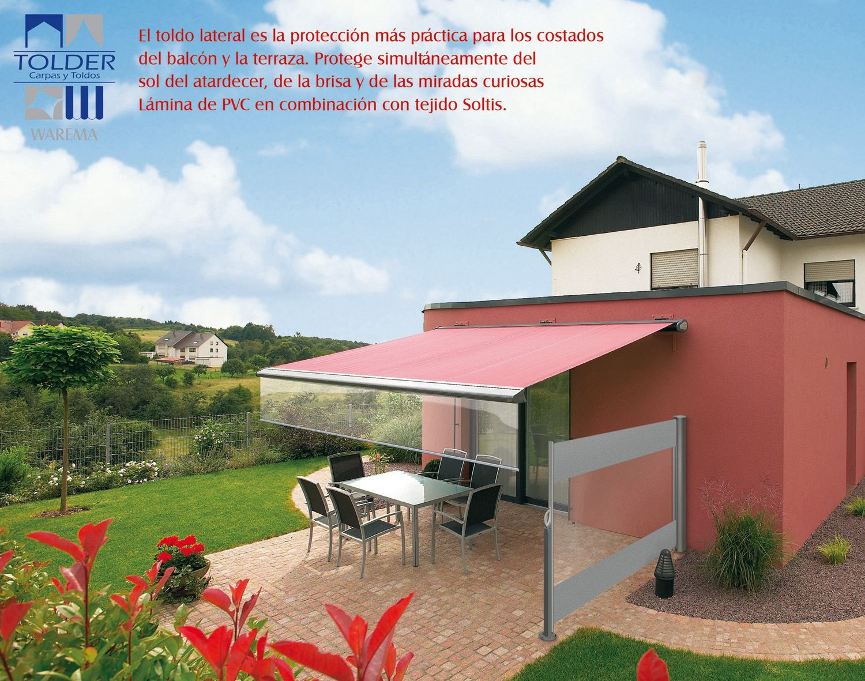 El toldo lateral es la protecci n m s pr ctica para los - Toldos para terrazas ...