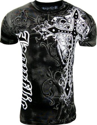 83d0efaa Amazon.com: Konflict NWT Men's Giant Cross Graphic Designer MMA Muscle T- shirt!: Clothing