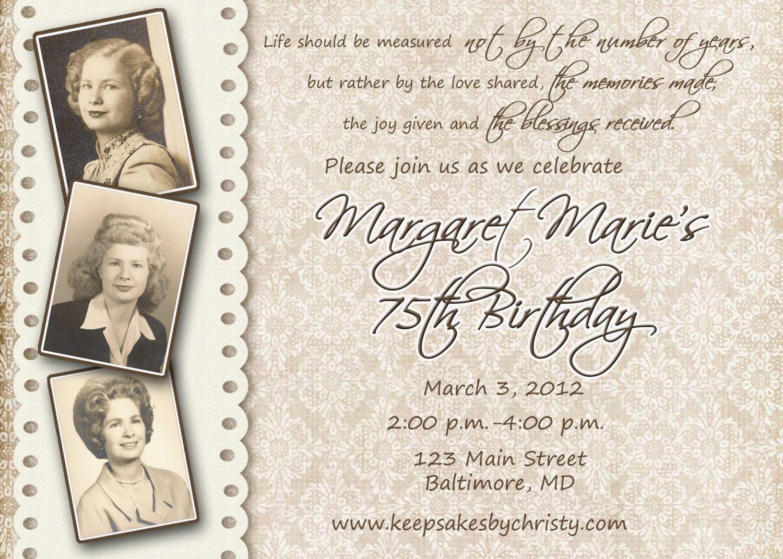 90th Birthday Party Invitation Granny turns 90 – 90th Birthday Invitation Wording Samples