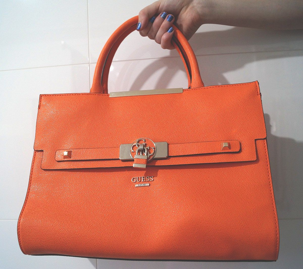 guess, loveguess, guess bag, orange, satchel, handbag | In My ...