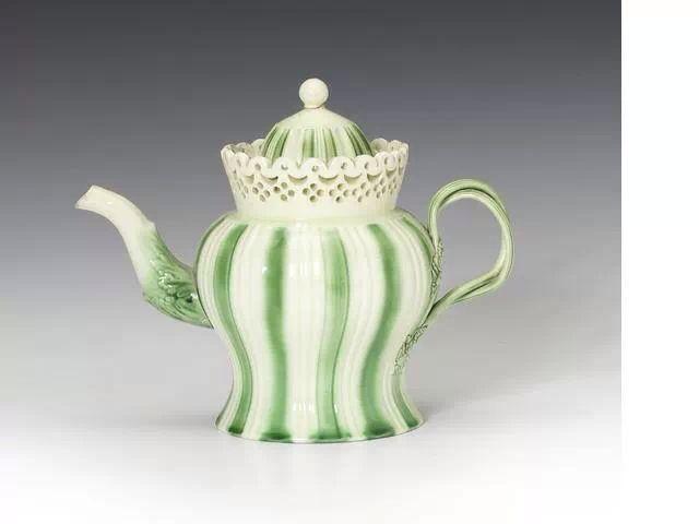 A creamware teapot and cover, circa 1775-80