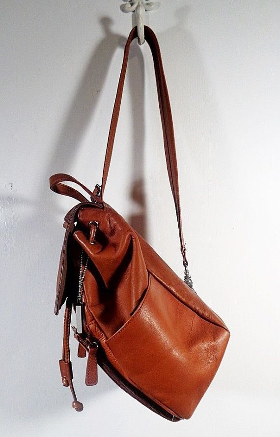 Vintage Leather Purse Backpack Style Covington By Pursenbootz 39 95