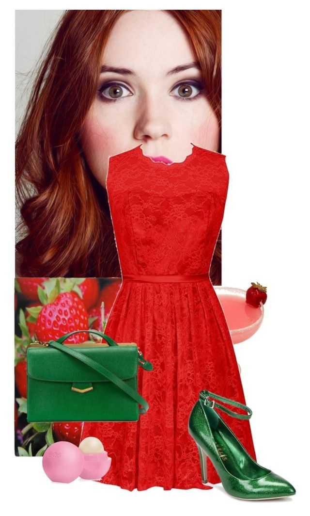 """""""Strawberry"""" by eb-case ❤ liked on Polyvore featuring Beauty Secrets, Fendi, Shellys and Eos"""