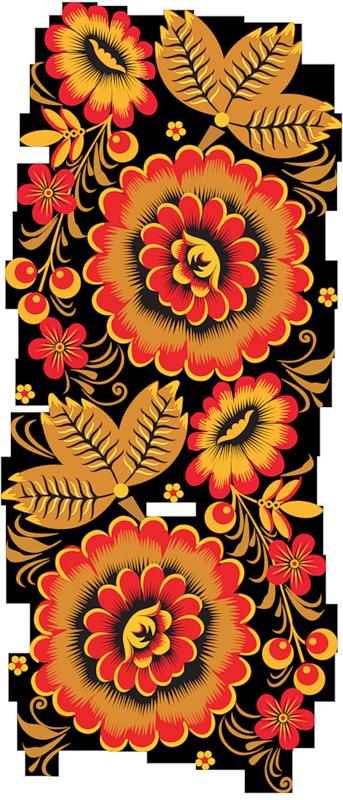Folk Khokhloma painting from Russia.