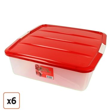 Plastic Wreath Storage Container With Red Lid Christmas Boxes Wreath Storage Wreath Storage Container Christmas Wreath Storage