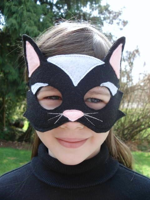 Black Cat Mask Mascara De Gato Disfraces Tatuajes Chulos