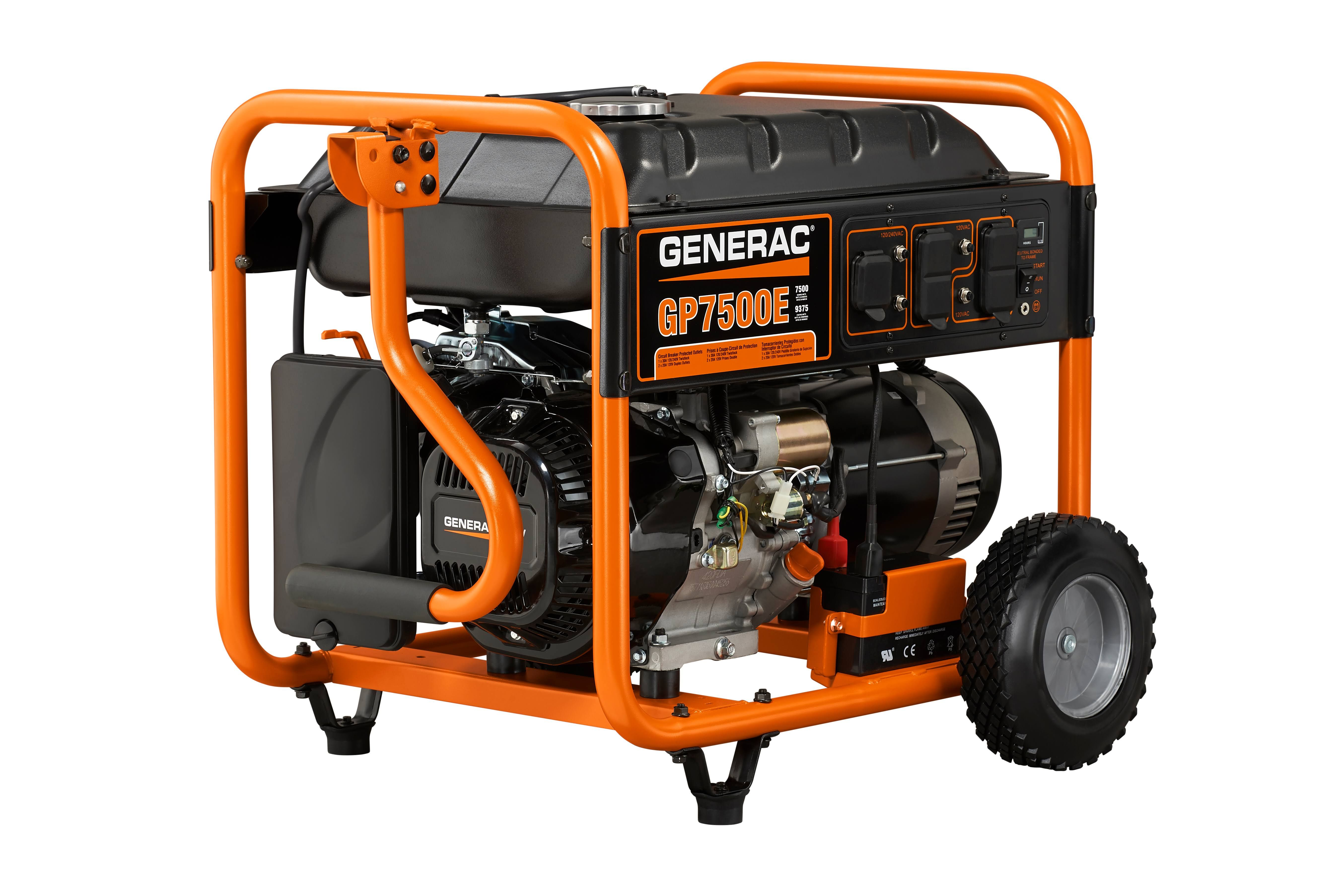 medium resolution of generac 7 500 watt portable generator