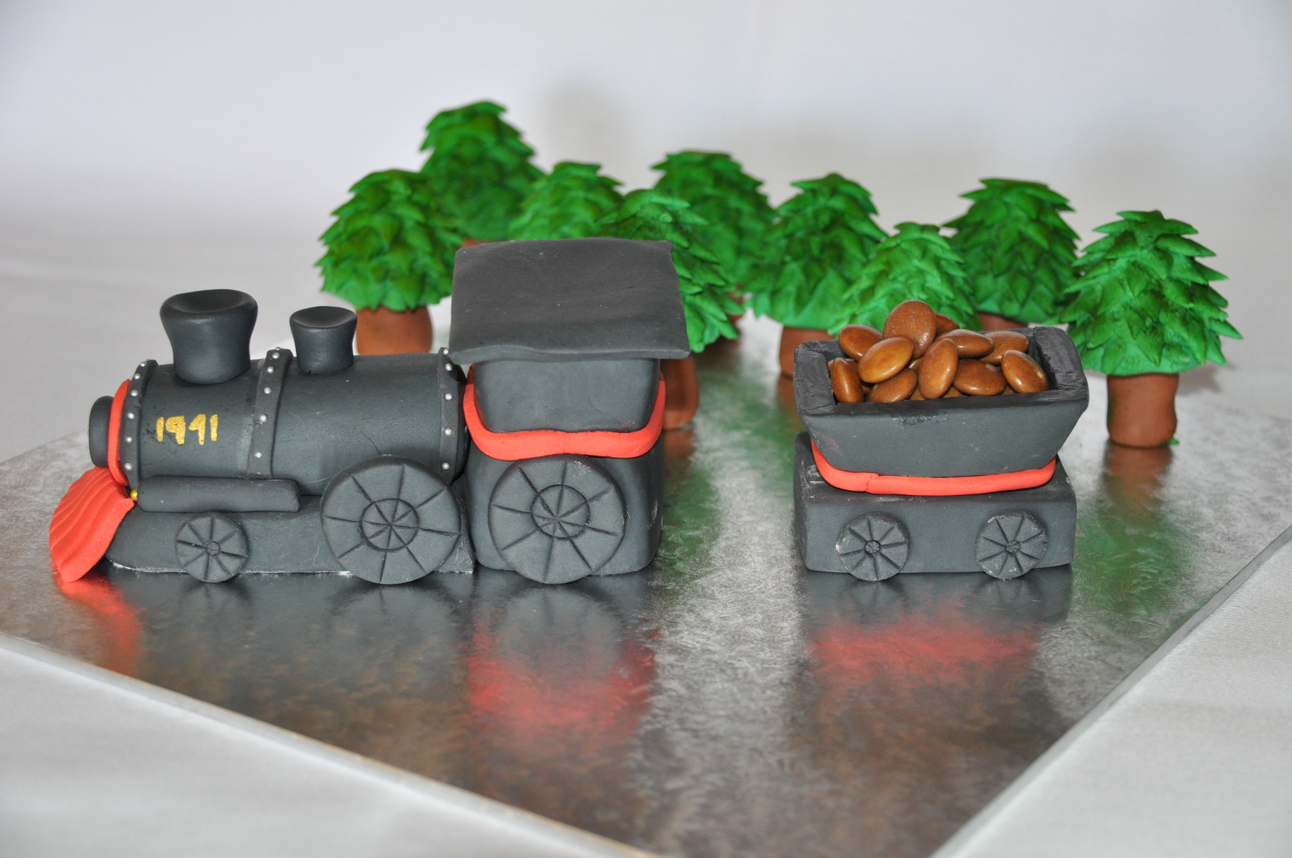 Kuchen Lokomotive Fondant Steam Train Cake Topper Torten Dekprieren