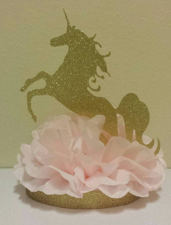 Unicorn Pink Gold Princess 1st Birthday Party Or Baby Shower Table
