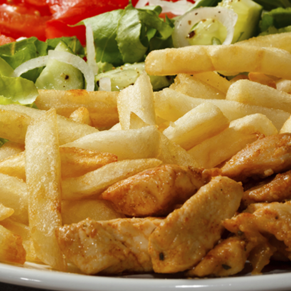This chicken is marinated in a delicious sweet and savoury sauce. Paired with a side of chips, its a great combo for a tasty dinner.. Baked Chicken and Chips Recipe from Grandmothers Kitchen.
