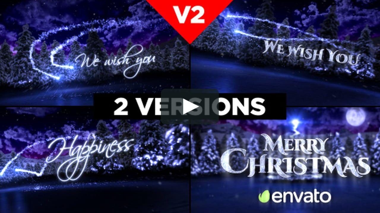 motiongraphic animation christmas, christmas card