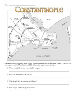 Constantinople and the Hagia Sophia Visual Analysis Worksheet ...
