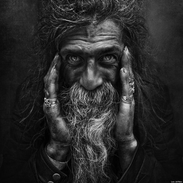 Photographer Lee Jeffries Striking Portraits Will Change: Striking Portraits Of Homeless Women And Men By