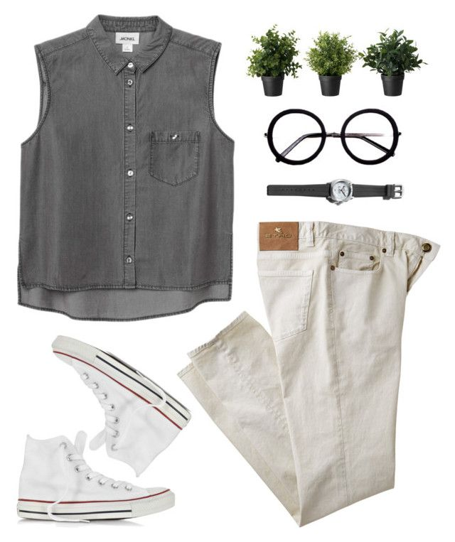 """""""you don't wanna know."""" by nut-and-nude ❤ liked on Polyvore featuring Monki, Etro, Henri Bendel and Converse"""