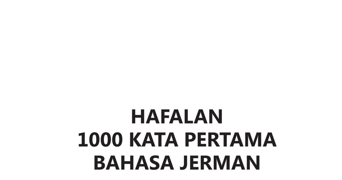 Hafalan 1000 Kata Pertama Bahasa Jerman.pdf