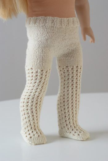 The Doll Tights PDF Knitting Pattern for 18 Dolls #knitteddollpatterns