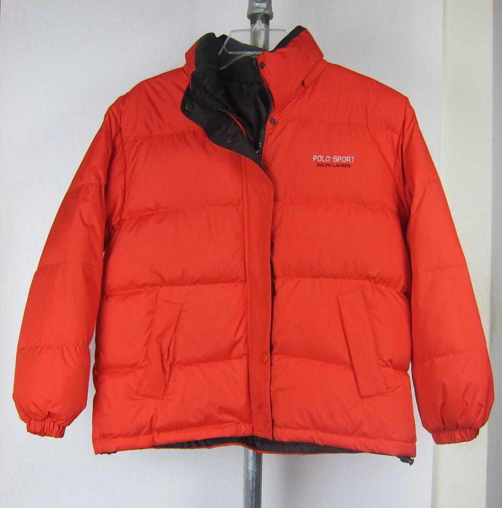 fd3440efc POLO SPORT RALPH LAUREN red puffer coat women's snow ski jacket XL ...
