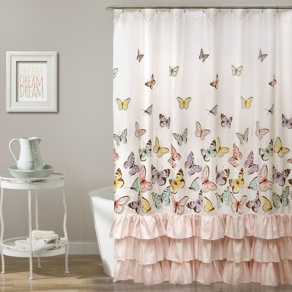 Flutter Butterfly Shower Curtain Butterfly Shower Curtain