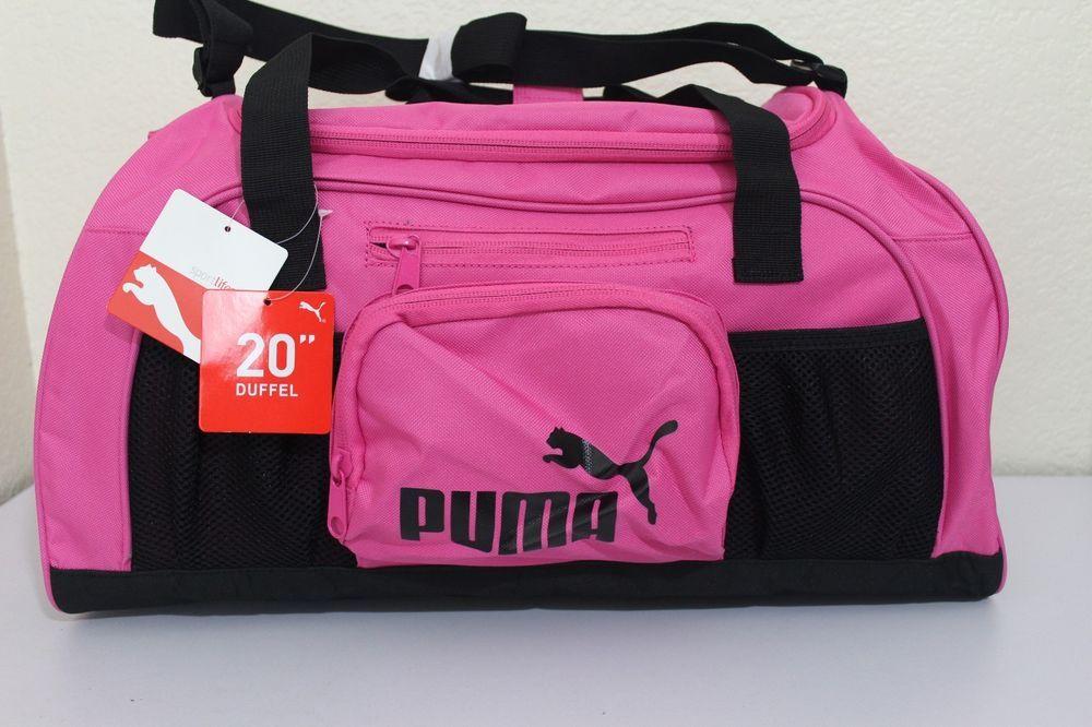 6c30e93490ff Puma sport lifestyle small duffel accelerator gym bag women 20