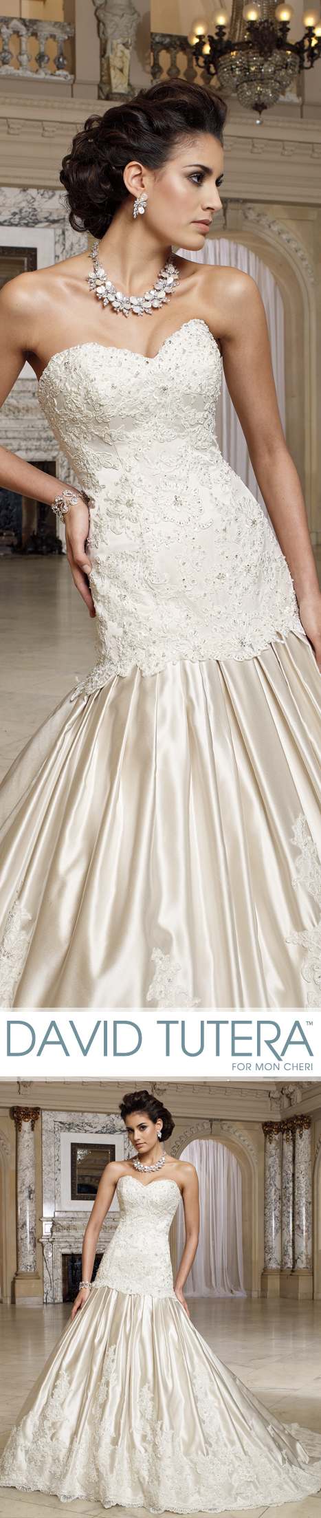 Dipped wedding dress  Wedding Dresses  u Spring   Wedding dress David tutera and