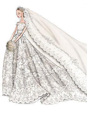 Valentino Designs Royal Wedding Gown Valentino Wedding Dress Wedding Dress Sketches Royal Wedding Dress