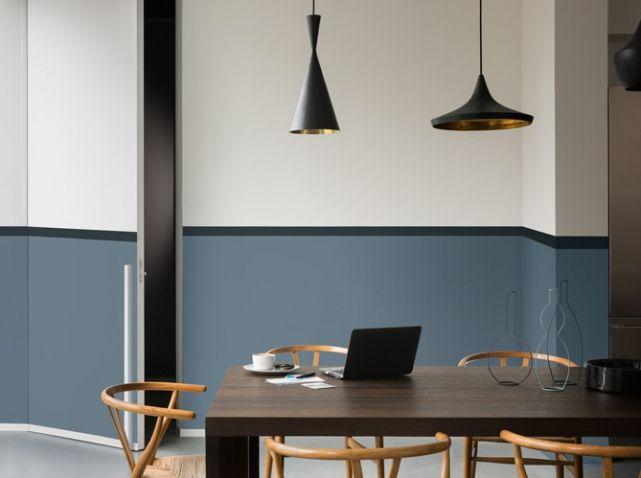 salle a manger bleu gris dulux valentine 2 blanc bois. Black Bedroom Furniture Sets. Home Design Ideas