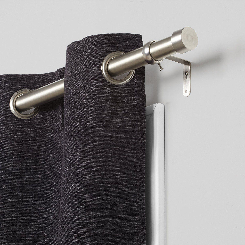 Amazon Com Umbra Cappa Brushed Nickel Curtain Rod Modern Extra