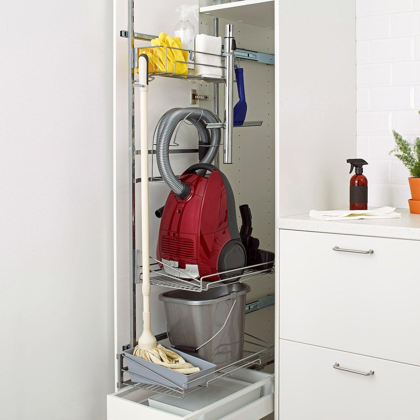 Metod Maximera Weiss Hochschrank Mit Putzschrankeinr Frame Colour In 2020 Hochschrank Ikea Wasche Schrank