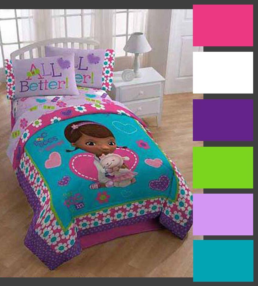 Doc Mcstuffins Color Palette Disney Bedding Bed Comforters