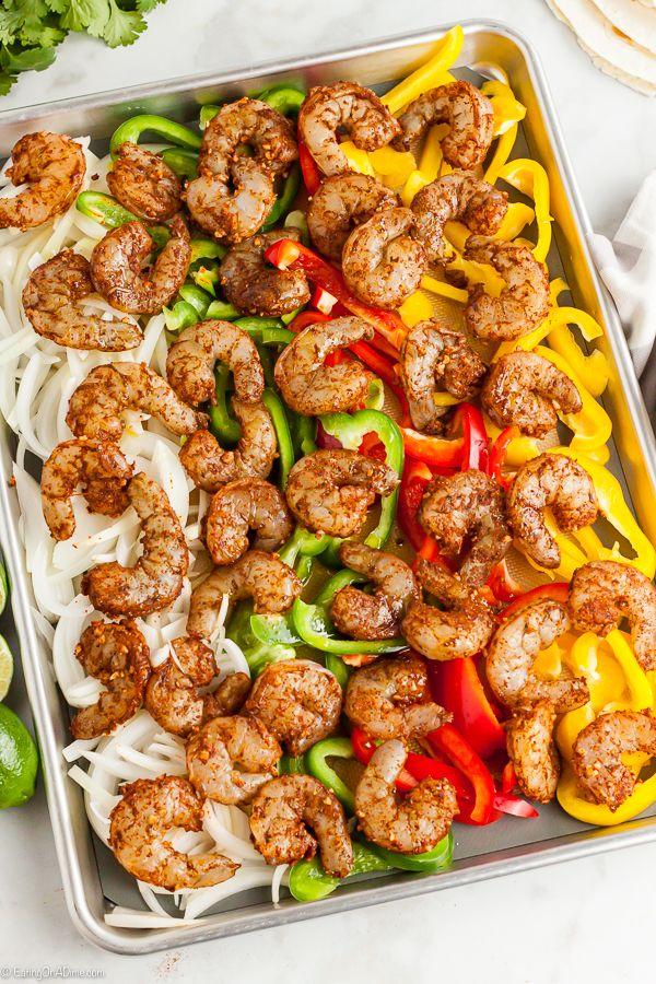 Sheet Pan Shrimp Fajitas Recipe - Ready in 10 minutes!
