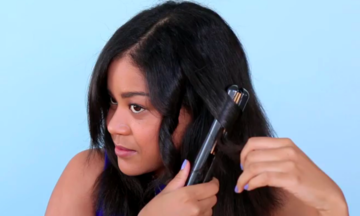 How To Curl Your Hair With A Flat Iron And Get Loose, Shiny Waves