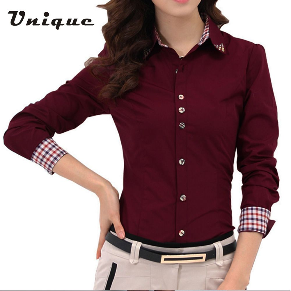 Camisa Feminina Quality Women Blouses Directly From China Las Office Shirts Suppliers 2017 Autumn Spring Shirt Patchwork Plaid