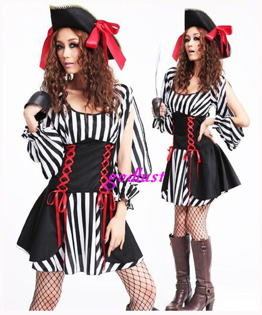 cosplay pirate dress halloween costumes for women plus size sexy adult pirates costumes wholesale