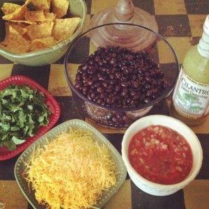 Skinny Black Bean Salad #SkinnyMom