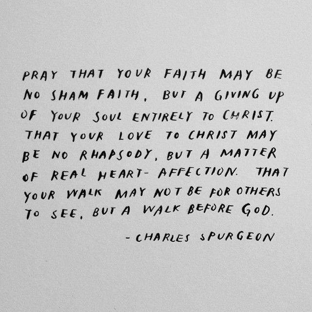 prayer for faith, by Spurgeon || handwritten by madebysohn