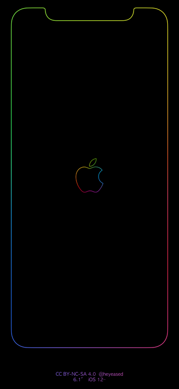 Xr Rainbow Border Apple Logo Iphone In 2020 Apple Logo Wallpaper Iphone Apple Logo Wallpaper Logo Wallpaper Hd