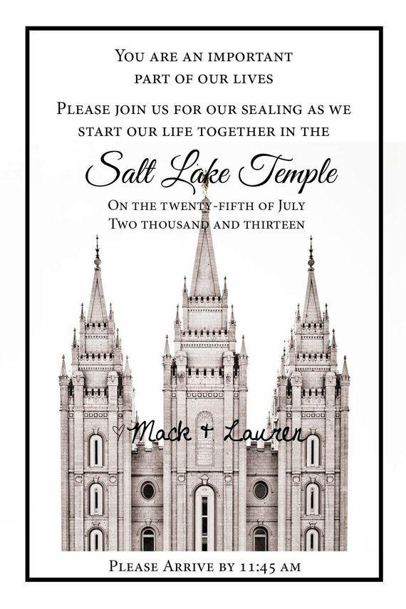 Lds temple wedding ceremony printable invitation by inkhdesigns lds temple wedding ceremony printable invitation by inkhdesigns filmwisefo